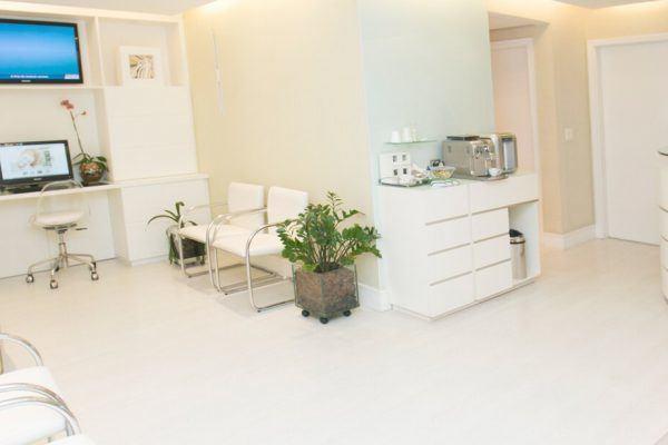 Recepção de uma clínica odontológica